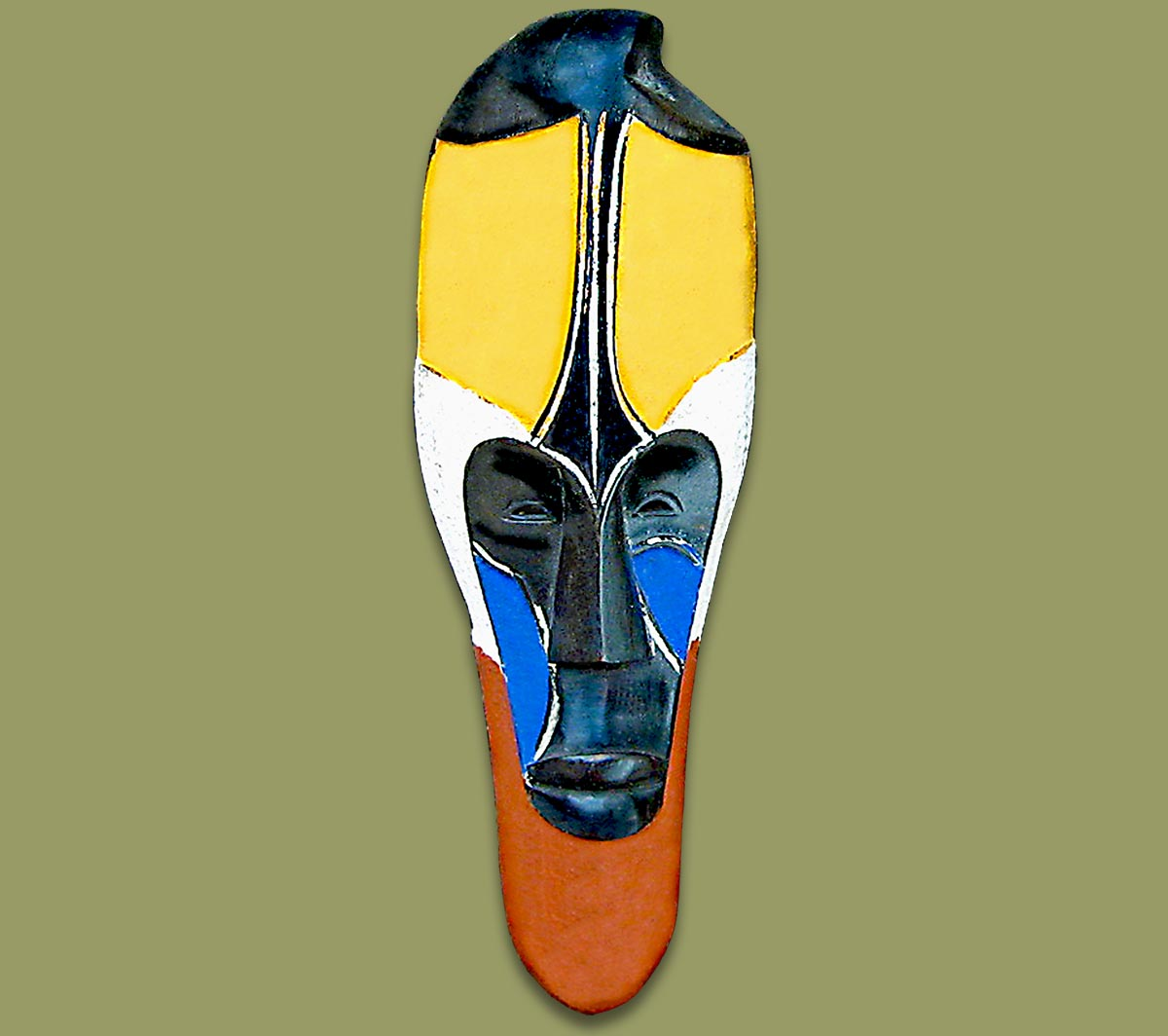 African Mask Fang Small Color