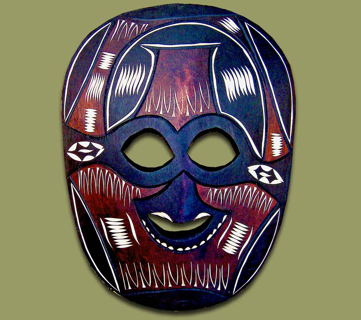 African Mask Swazi Large