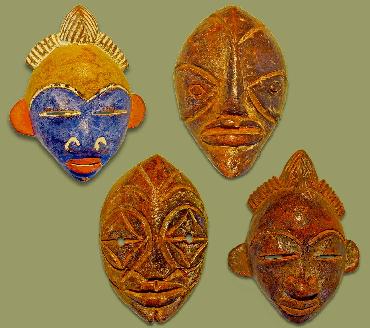 African Passport Masks Mixed