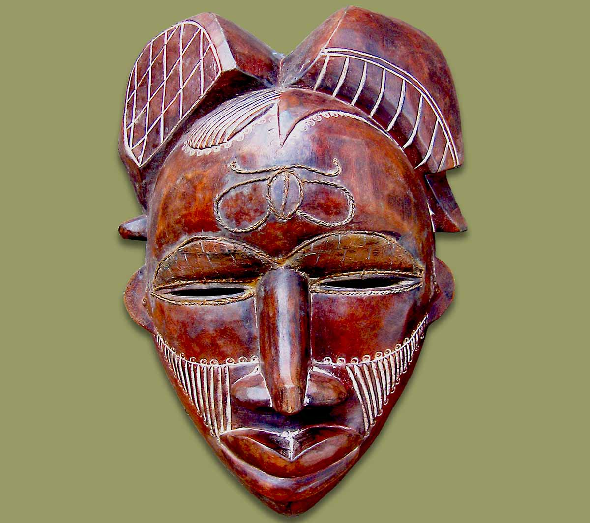 Masks From Africa African Mask Tikar Brown