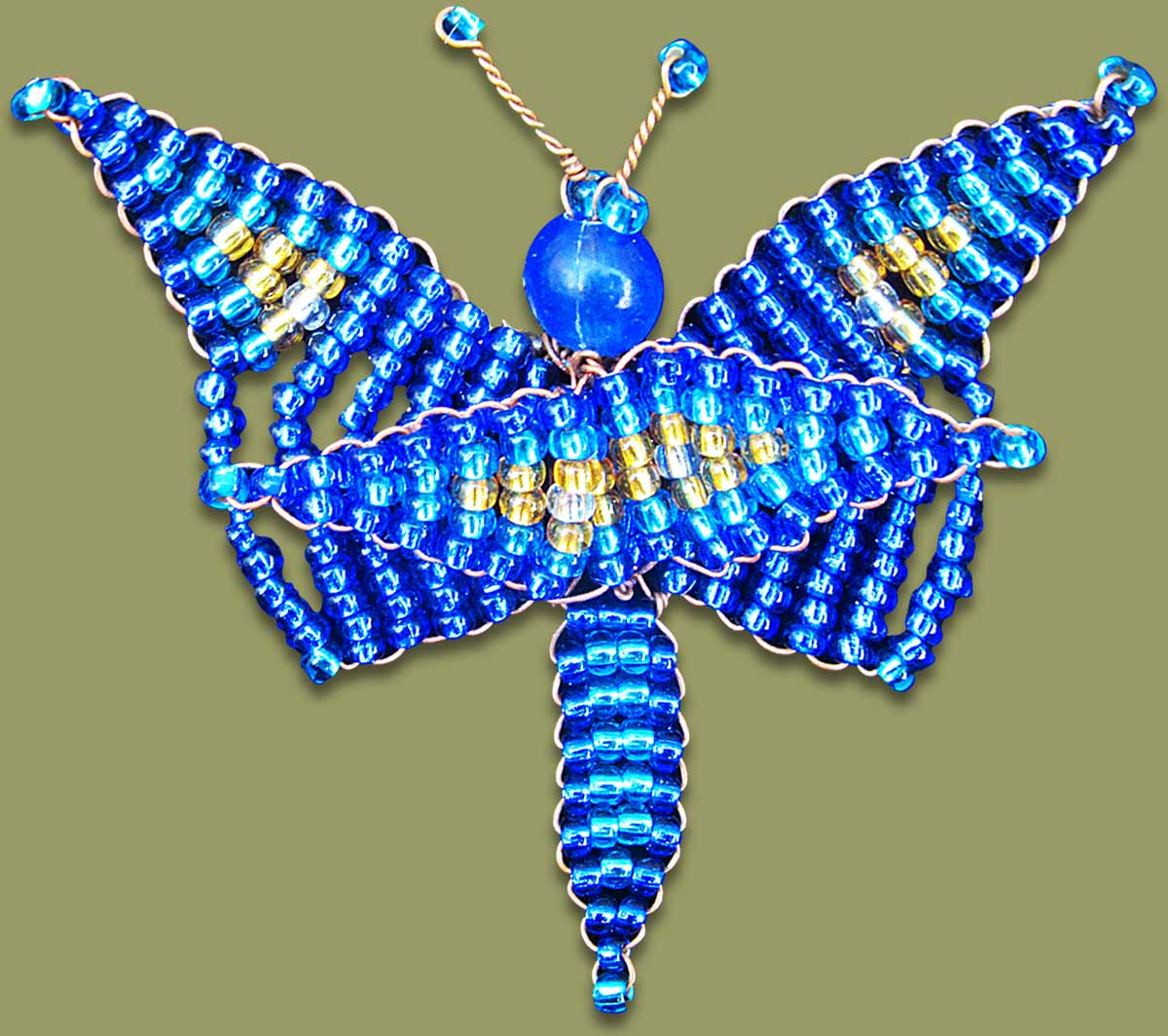 Beaded Butterfly Blue