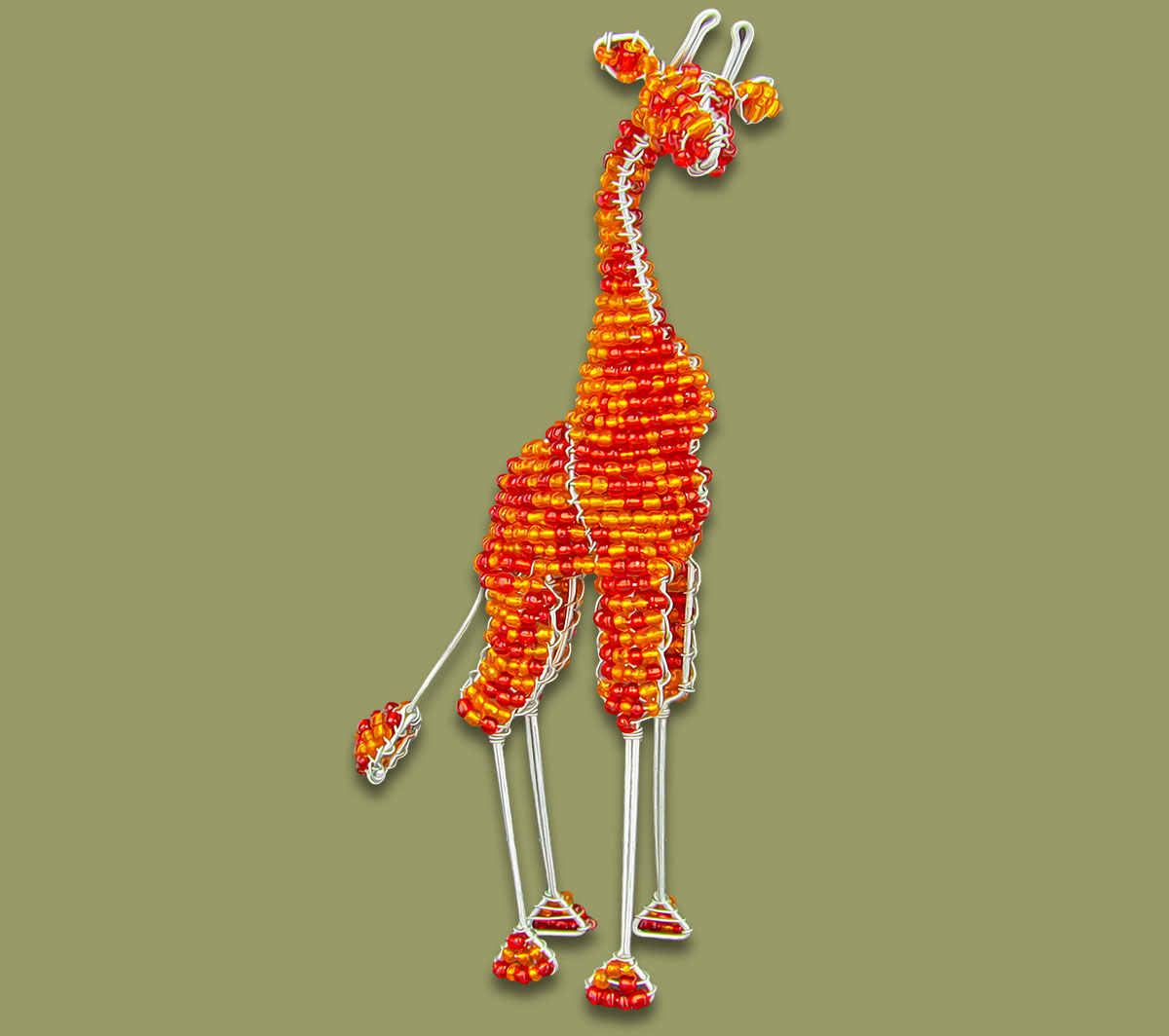 Beaded Giraffe Small