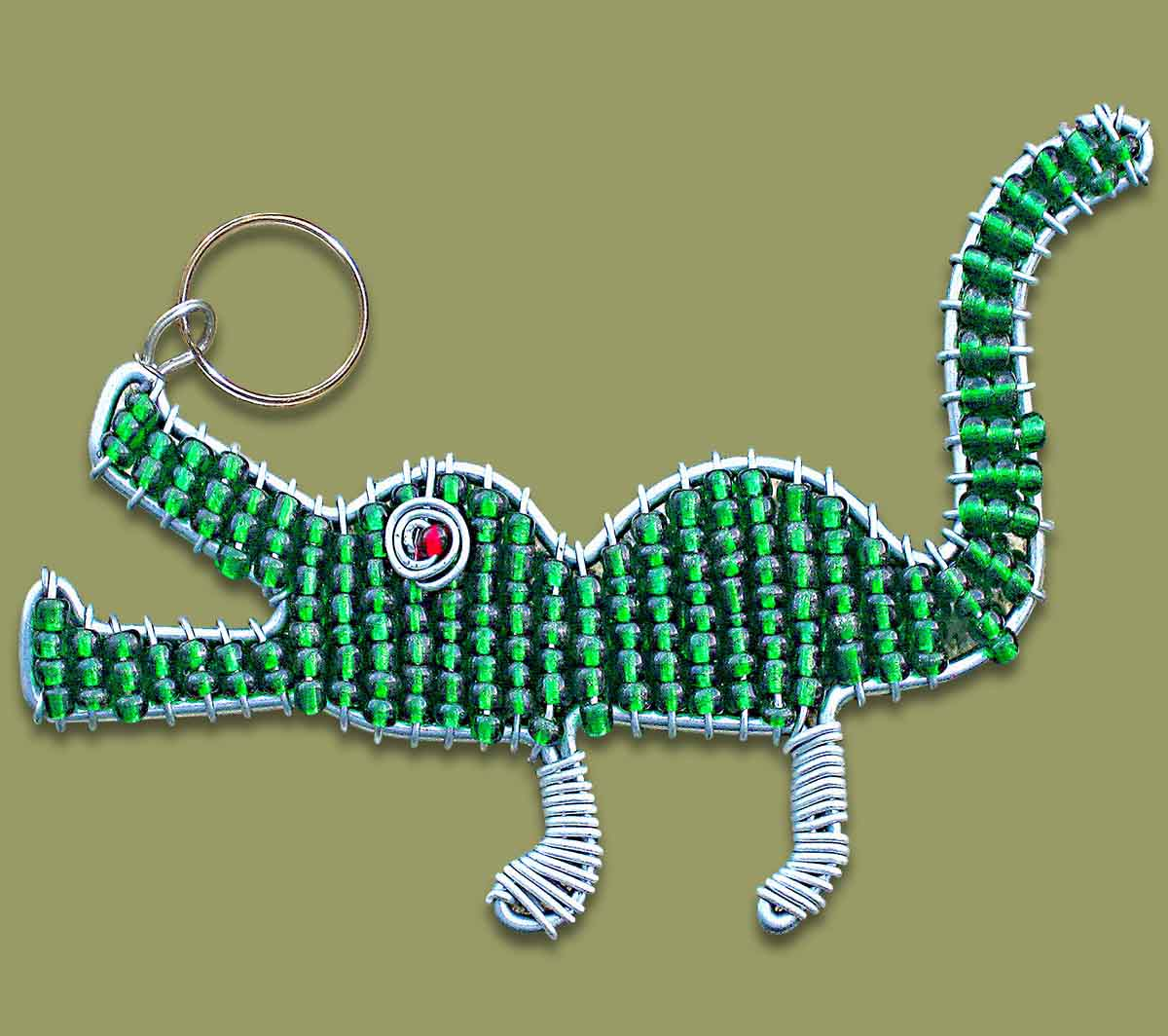 Beaded Key Ring Zulu Doll