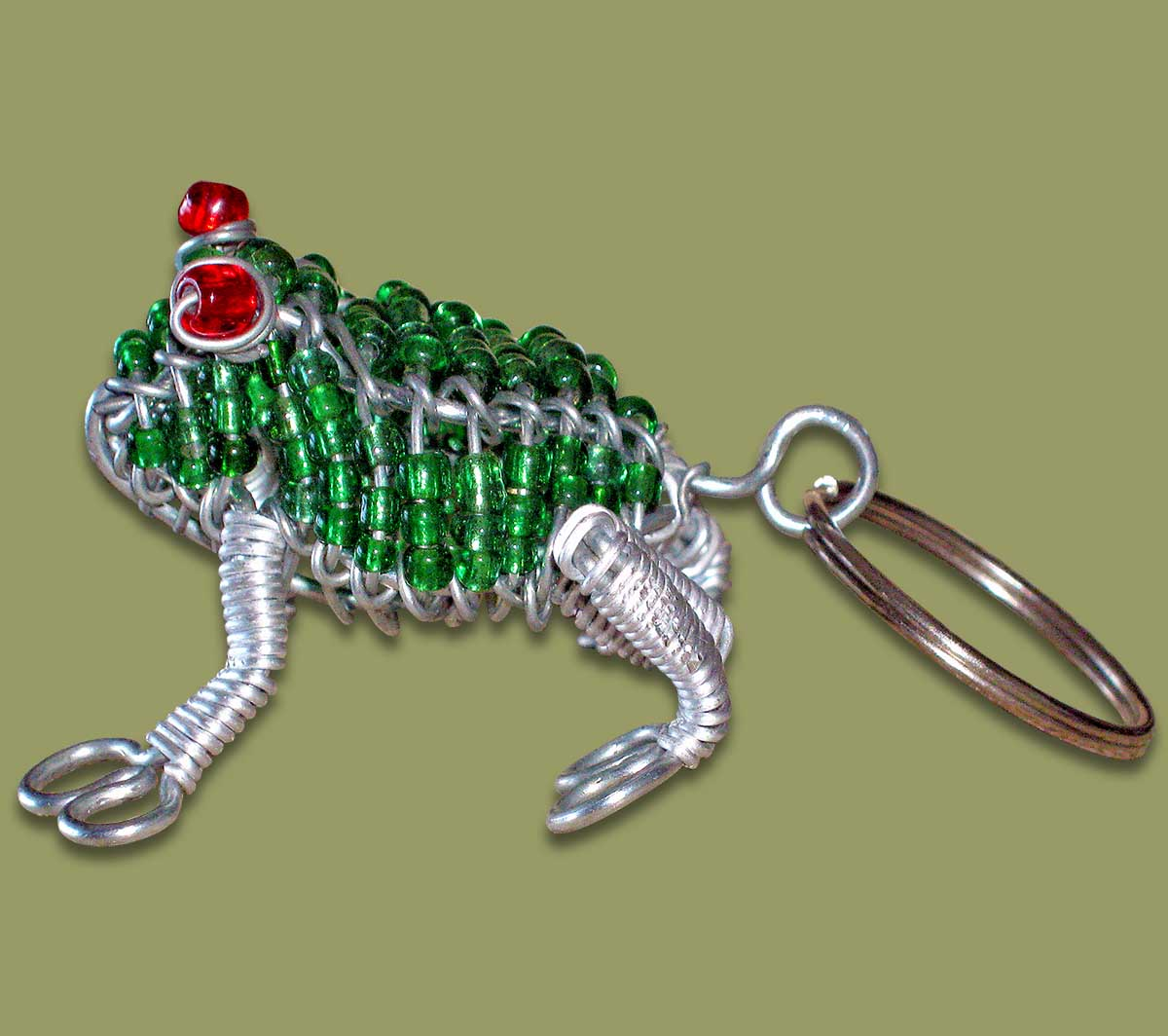 Beaded Key Ring Frog