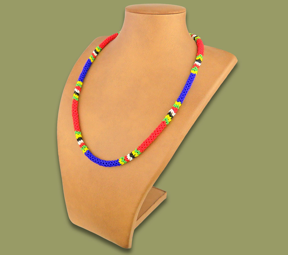 Beaded SA Flag Necklace