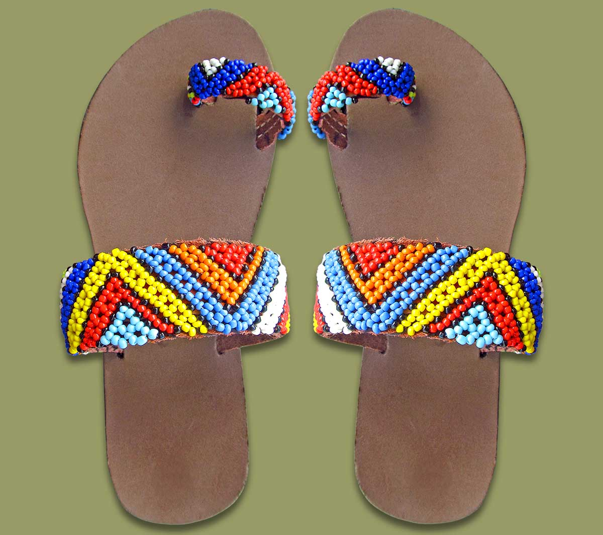 64754d1b1541f Traditional Womans Clothing  Beaded Sandals Zulu