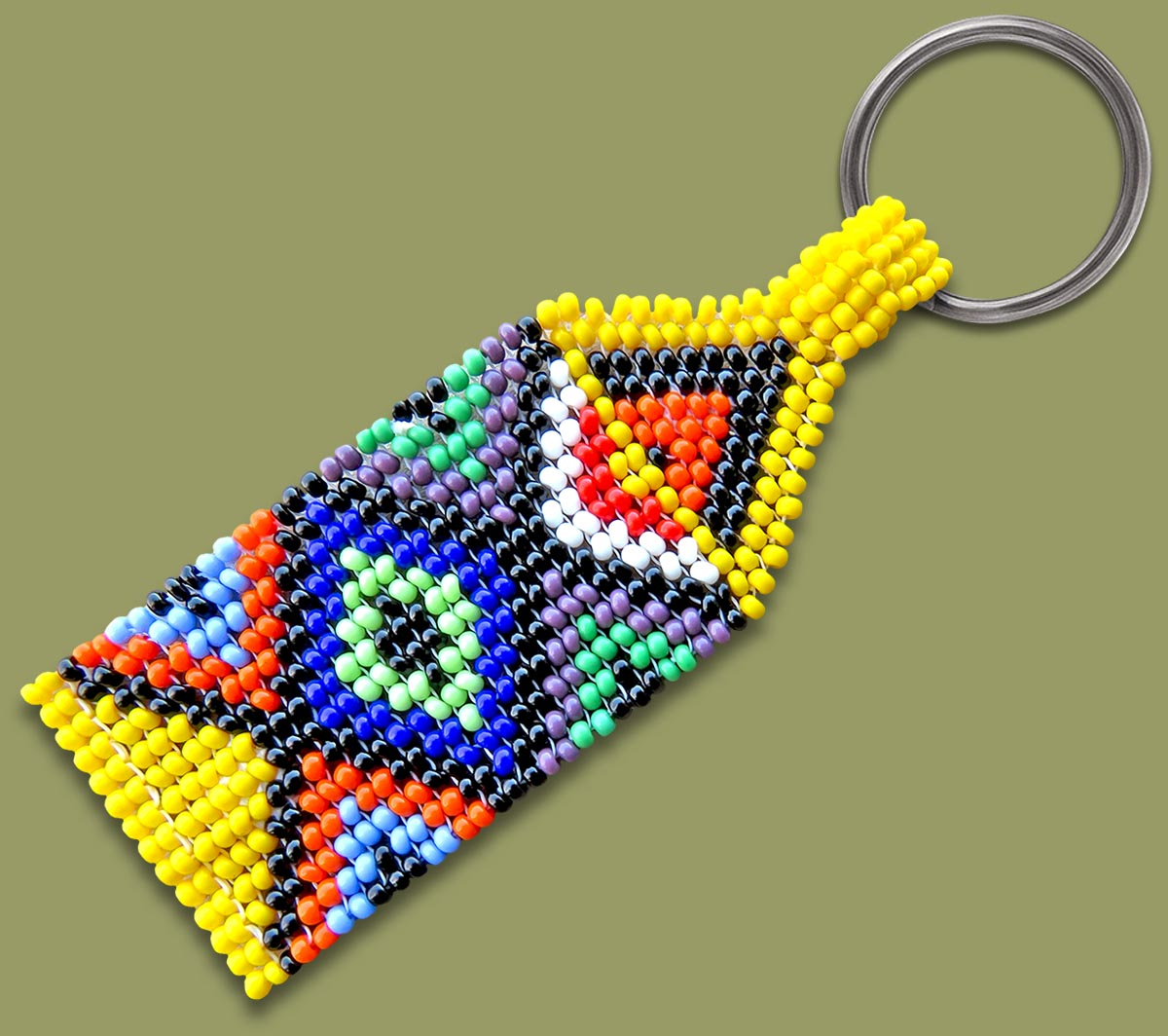 Zulu Beaded Keyring