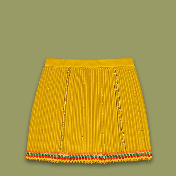 Pleated traditional Zulu skirt.