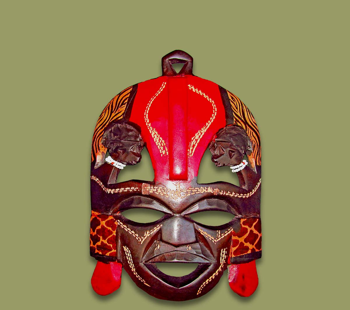 Medium Maasai Kissing Mask