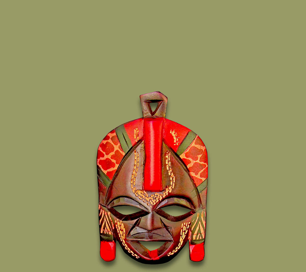Masks From Africa Small Maasai Kissing Mask