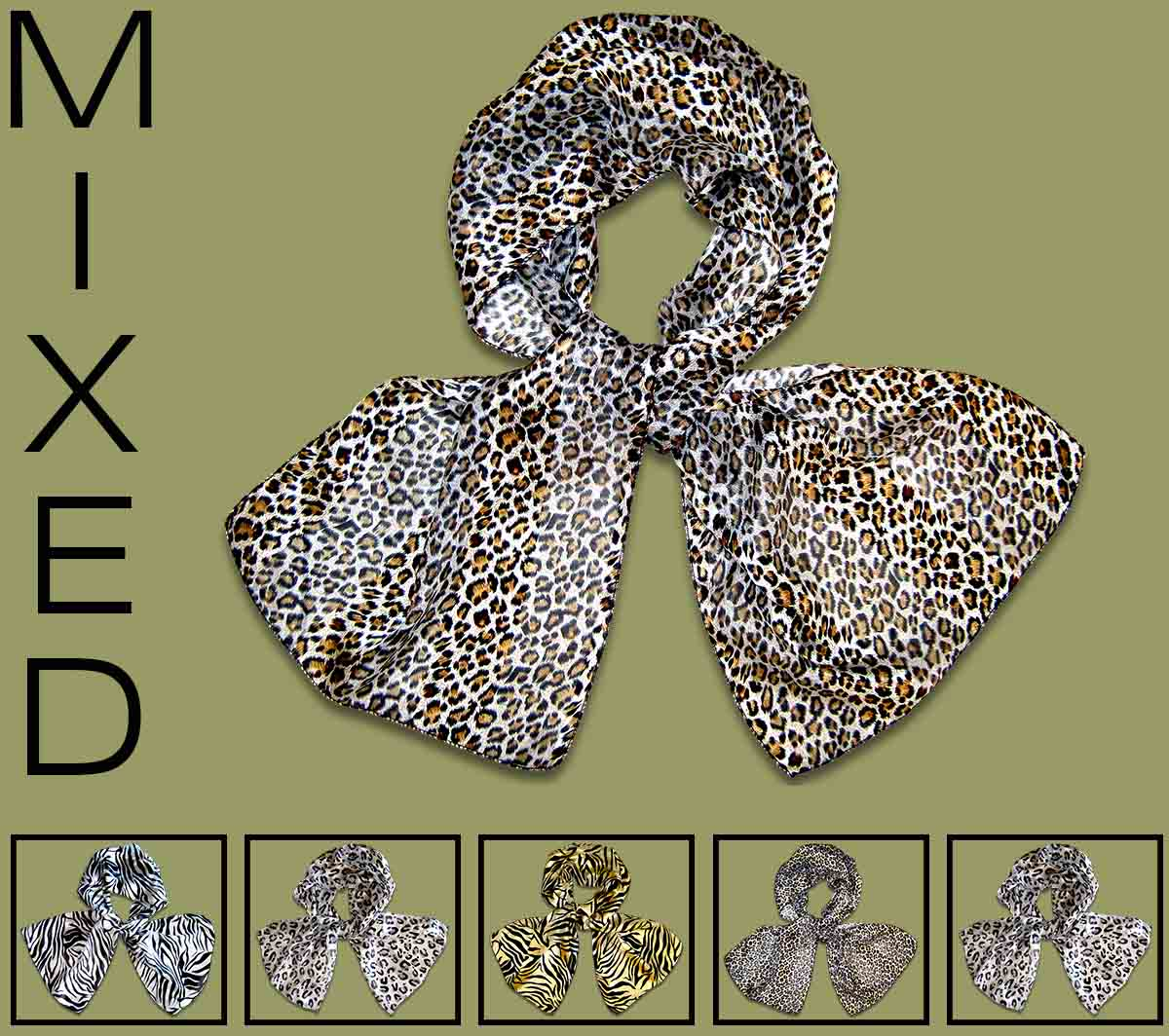 Mixed Animal Print Scarves