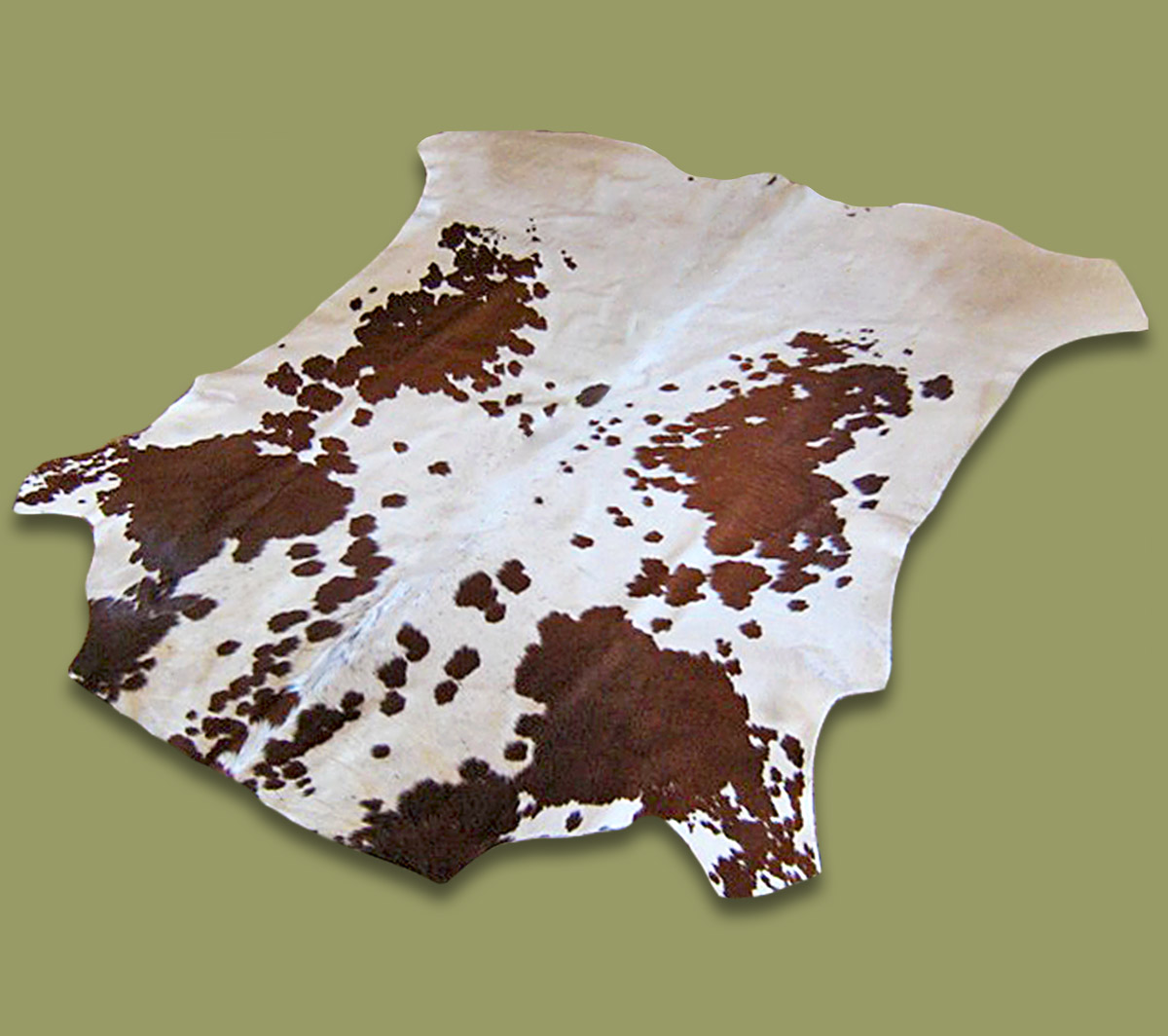 Nguni Hide.15 Brown And White Mottled