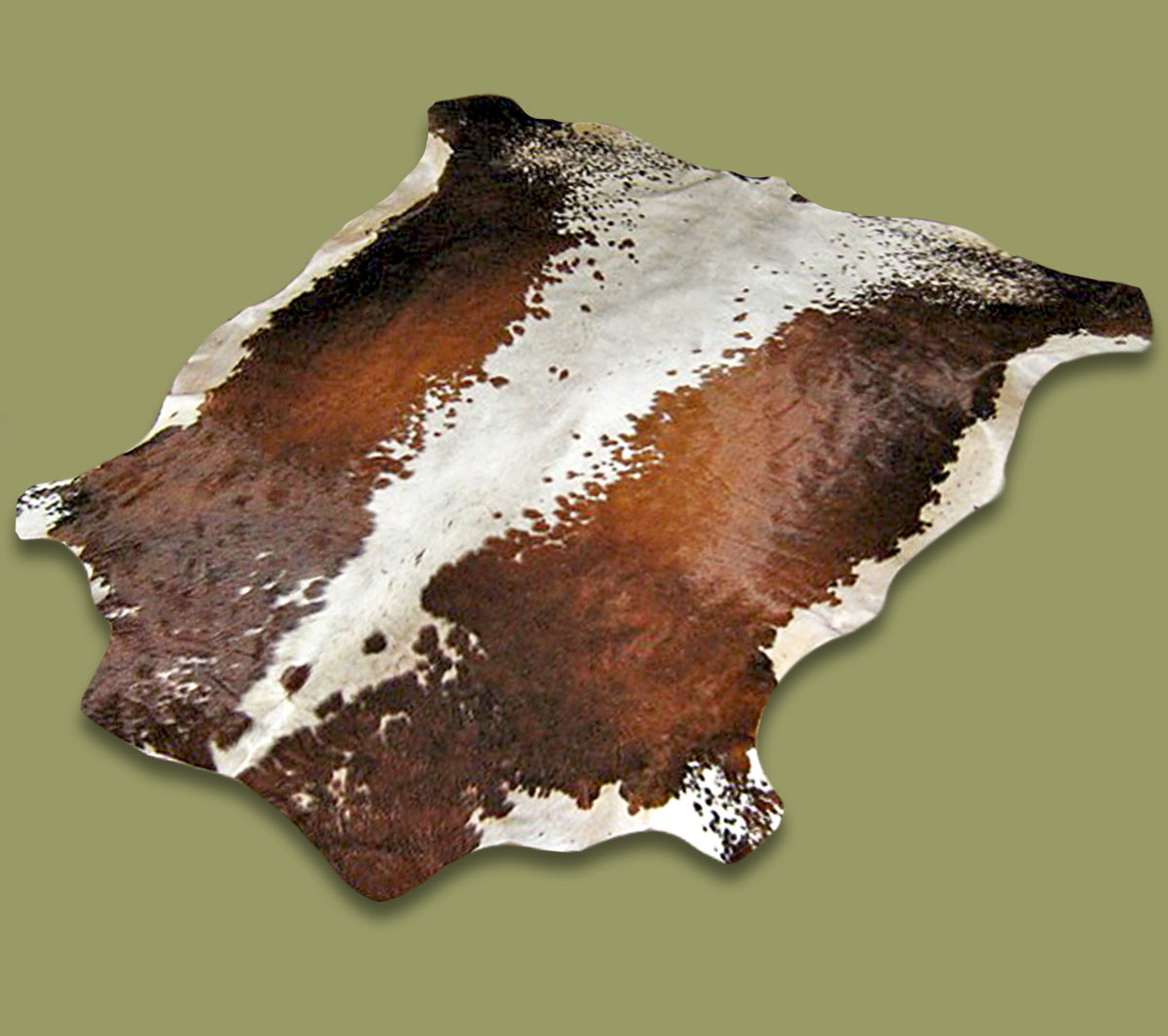 Nguni Hide.29 Brown White - A GRADE HIDE