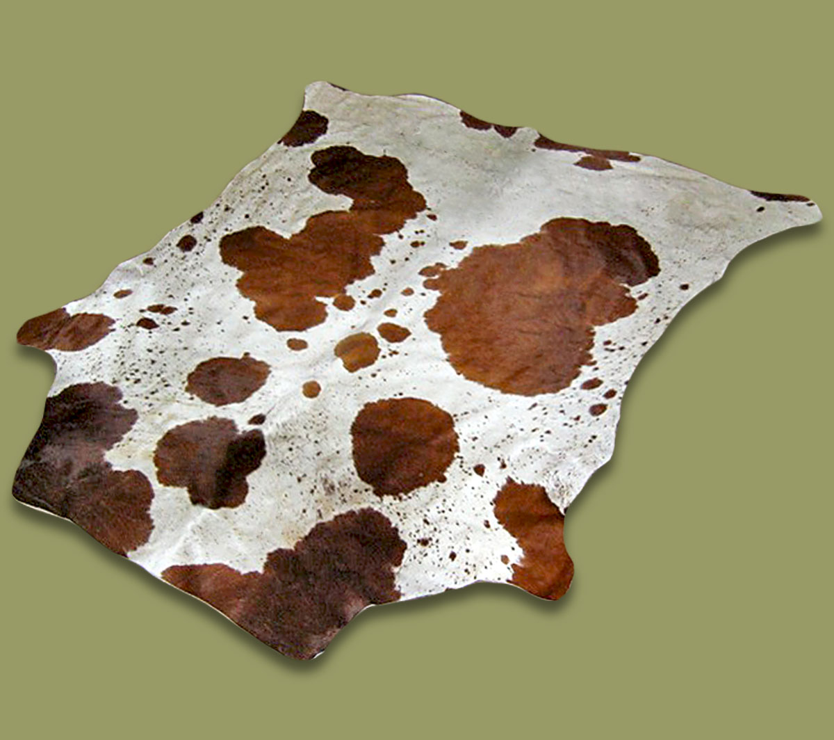 Nguni Hide.30 White Brown - A GRADE HIDE