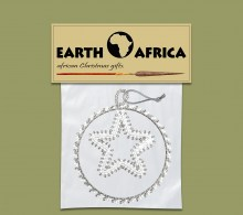 Pack X 1 Christmas Circle Star Silver White