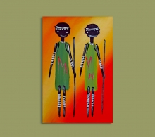 African Art Miniature Originals Children.1