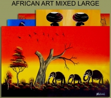 African Art Mixed Large