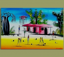 African Art Village Huts