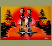 African Art Woman Water Carriers.2