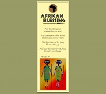 African Bookmark Art