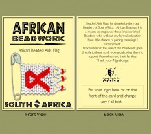 Packaging Beaded Aids Flag.1 Carded