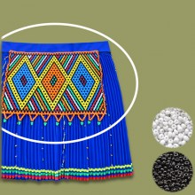 BLACK WHITE African Beaded Apron | Chest Piece