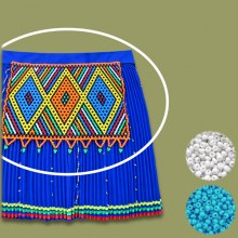 BLUE WHITE African Beaded Apron | Chest Piece