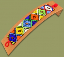 Beaded Bracelet Flat African Colours