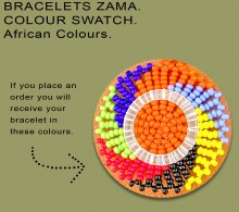 African Beaded Bracelets Zama Bright African Colors
