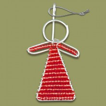 African Beaded Christmas Angel Red