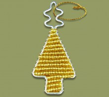 African Beaded Christmas Tree.1 Gold
