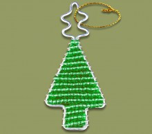 African Beaded Christmas Tree Green