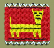 African Beaded Coaster Dog 1
