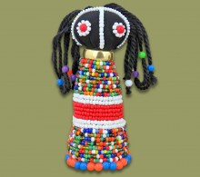 African Beaded Doll Medium