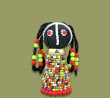 African Beaded Doll Small