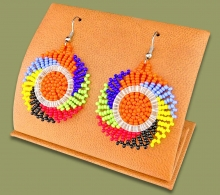 Small Circle Earrings African Colours