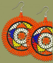 Large Circle Earrings Dark Orange