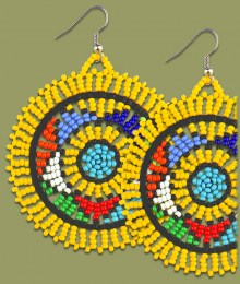 Large Circle Earrings Yellow