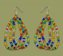 African Beaded Earrings Mabibi African Colours