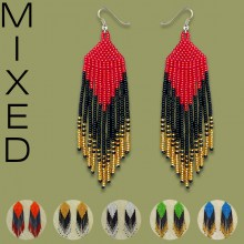 MIXED African Beaded Earrings Tala