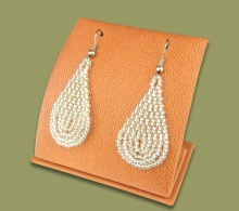 Small Beaded Ear Rings Tear Drop Silver