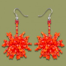 African Beaded Earrings Tswalu Oranges