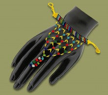 African Beaded Gloves