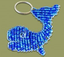Beaded Key Ring Whale