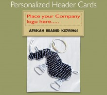 Personalized Keyring Header Card. 2