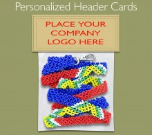 Personalized Lanyard Header Card. 1