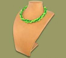 African Beaded Necklace Khanyo Green Lime Emerald