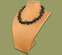 African Beaded Necklace Moyo Black
