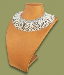 African Beaded Necklace Ntombi White Silver