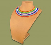 African Beaded Necklace Ntombi Zulu Colours